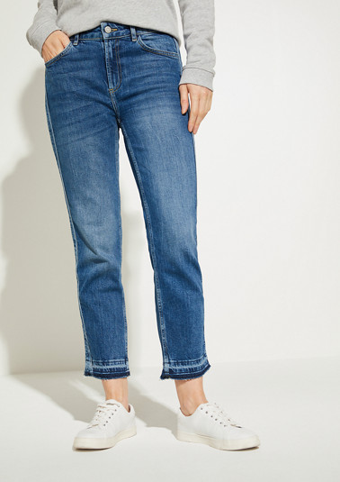Slim Fit: Straight crop leg-Jeans