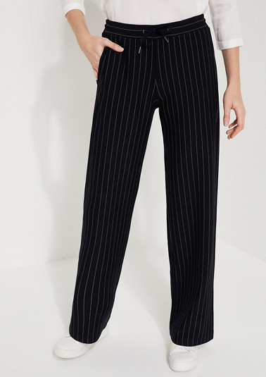 Loose Fit: Wide leg-Striped trousers from comma