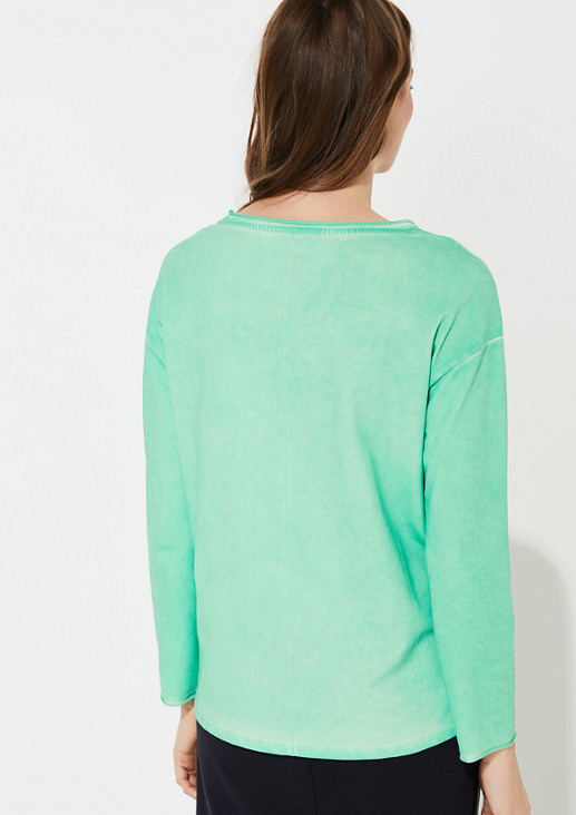 Sweatshirt with a cold pigment dye effect from comma