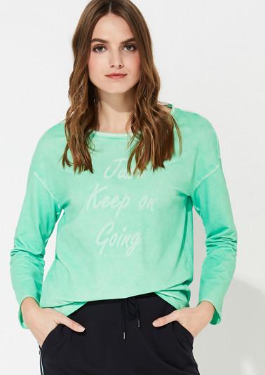 Sweatshirt mit Cold Pigment Dye-Effekt