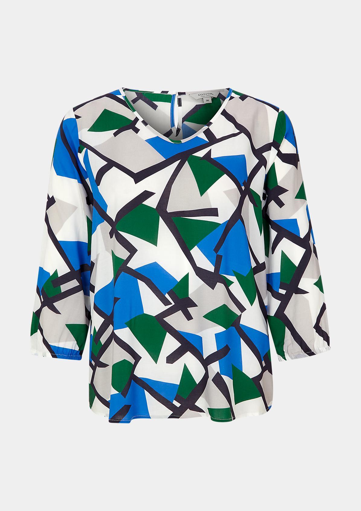 Bluse mit modischem Grafik-Print