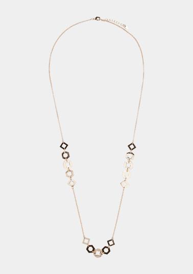 Halskette mit geometrischen Anhängern