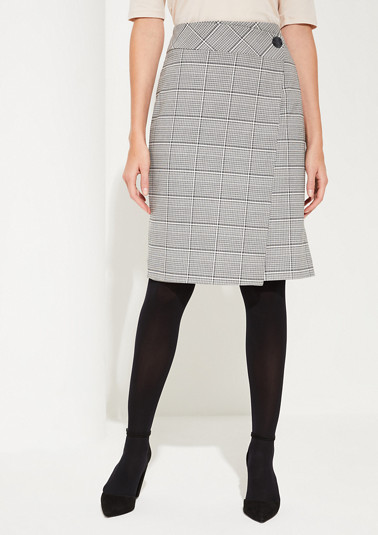 Jacquard skirt in a wrap-over effect from comma