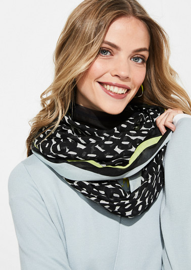 Snood with an all-over pattern from comma
