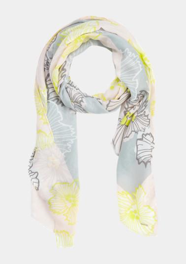 Schal mit Blüten-Print