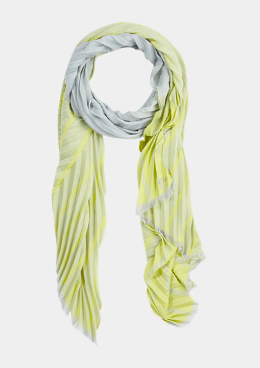 Plissee-Schal mit Farbverlauf