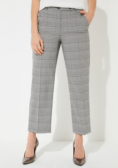 7/8-length check trousers from comma