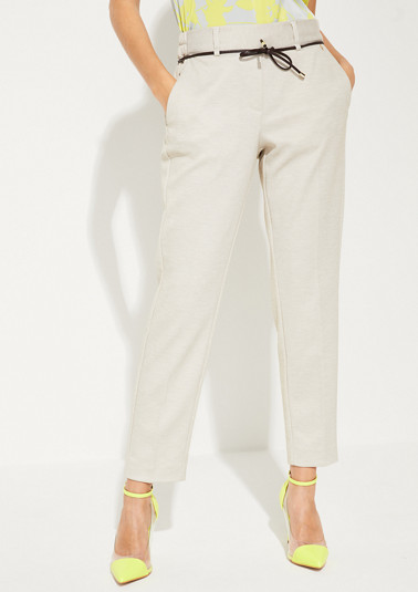 Slim Fit: Tapered ankle leg-trousers from comma