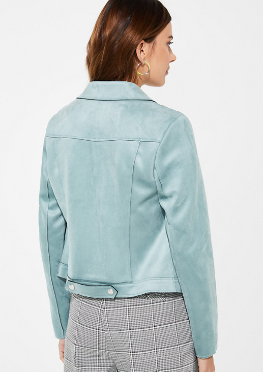 Suede jacket in a denim jacket style from comma
