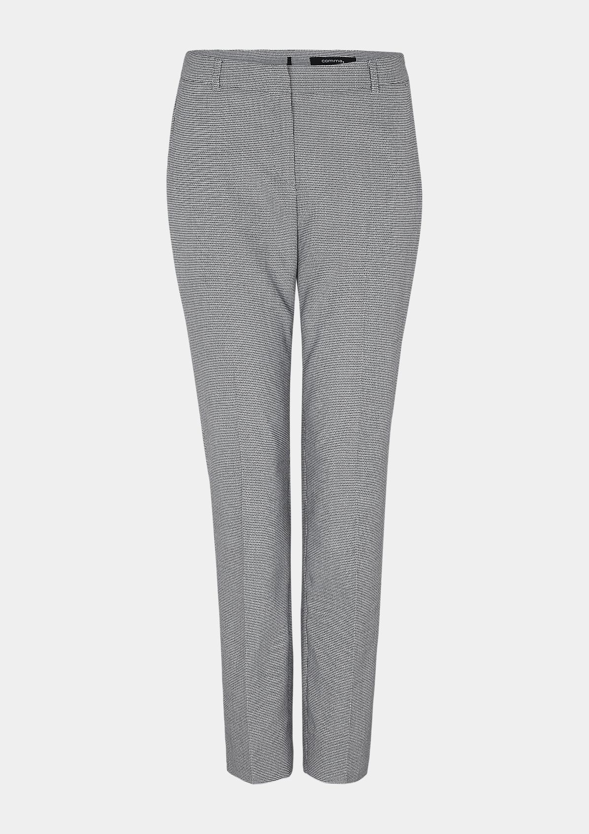 Finely patterned 7/8-length trousers from comma