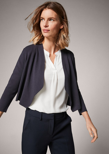 Cardigan with no fastener from comma