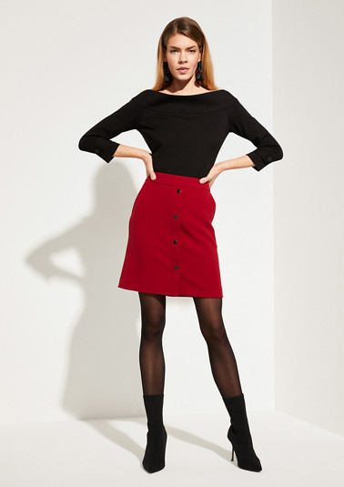 Mini skirt with a press stud placket from comma