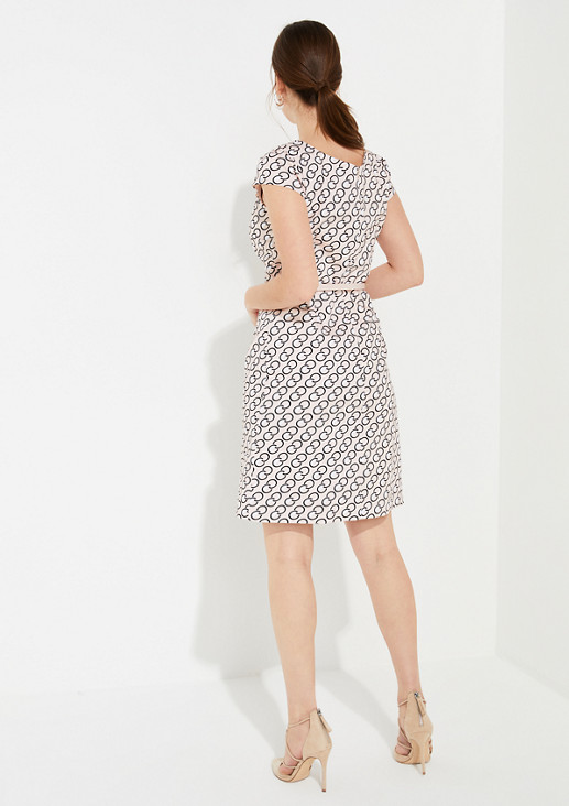Elegant dress with an all-over pattern from comma
