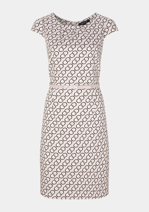 Elegantes Kleid mit Allovermuster