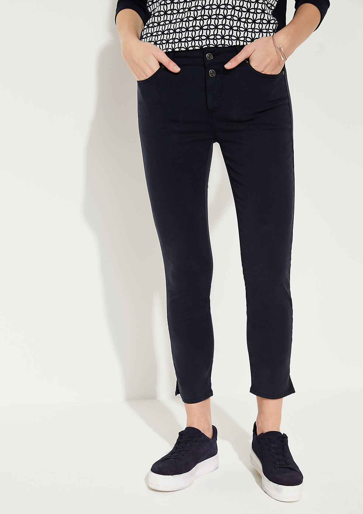 Skinny fit: Skinny fit ankle-length trousers from comma