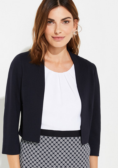 Short jersey blazer from comma