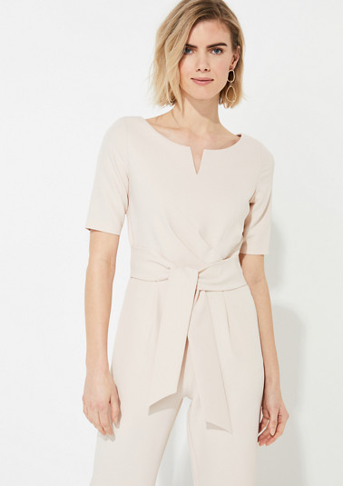 Jumpsuit with a fabric tie belt from comma