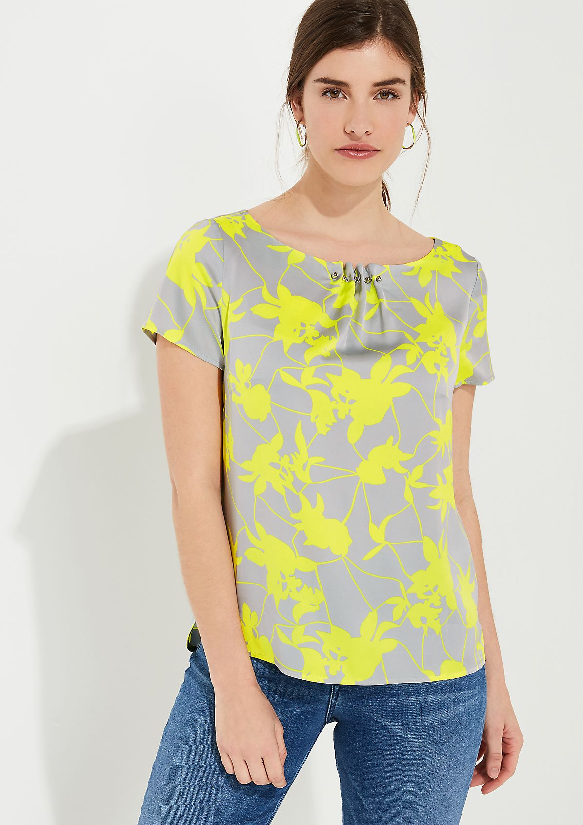 Blouse top with decorative beads from comma