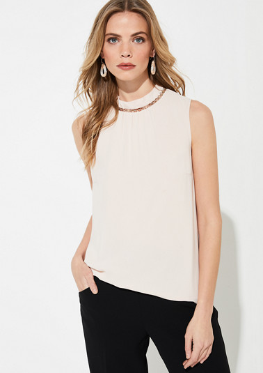 Blouse with stand-up collar from comma