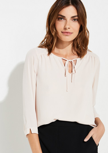 Blouse with a decorative bow from comma