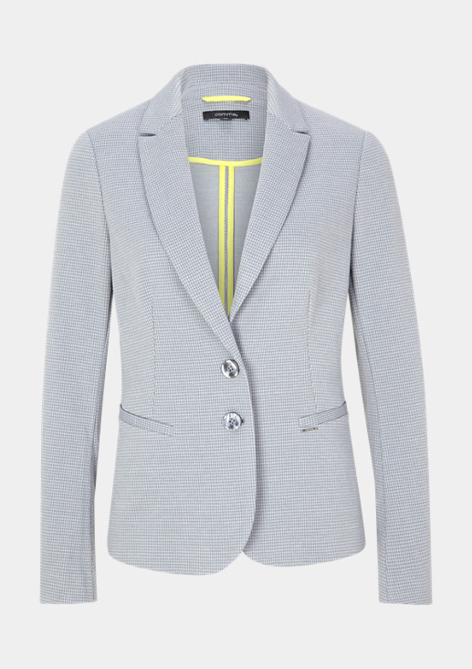 Blazer with a houndstooth finish from comma