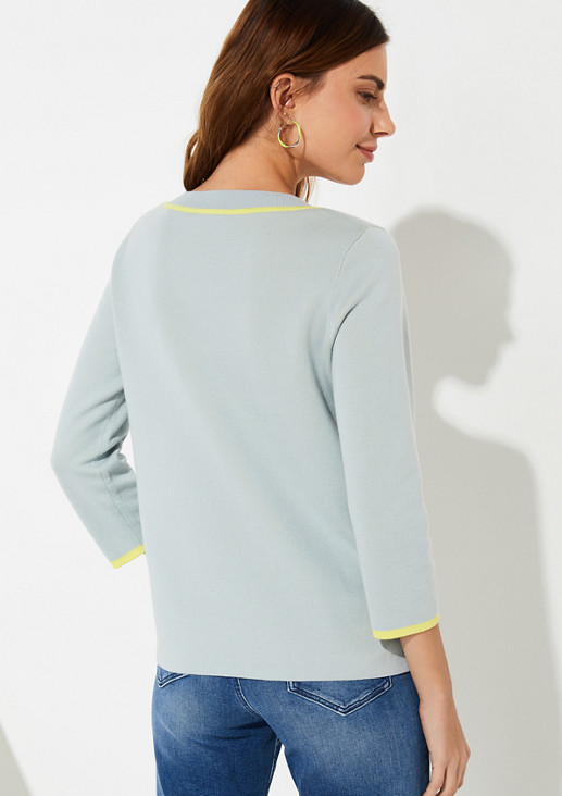 Jumper with contrasting details from comma