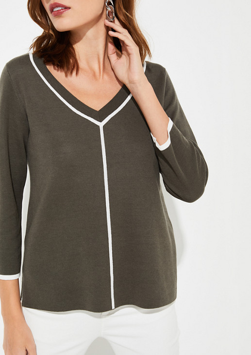 Pullover mit Kontrast-Details