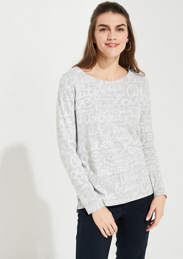 Sweatshirt with an all-over pattern from comma