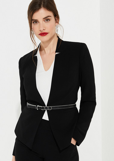 Blazer with a crêpe texture from comma