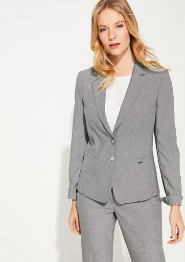 Blazer with a woven texture from comma