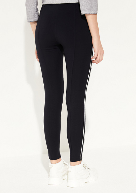 7/8-length treggings with zip details from comma