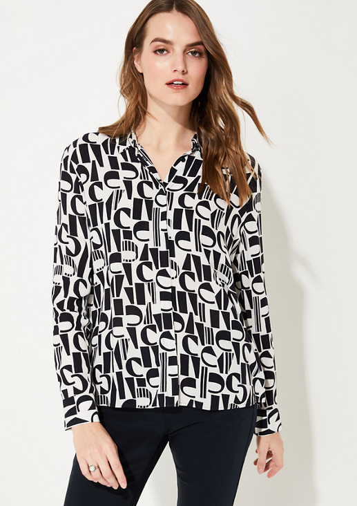 Blouse in a logomania style from comma