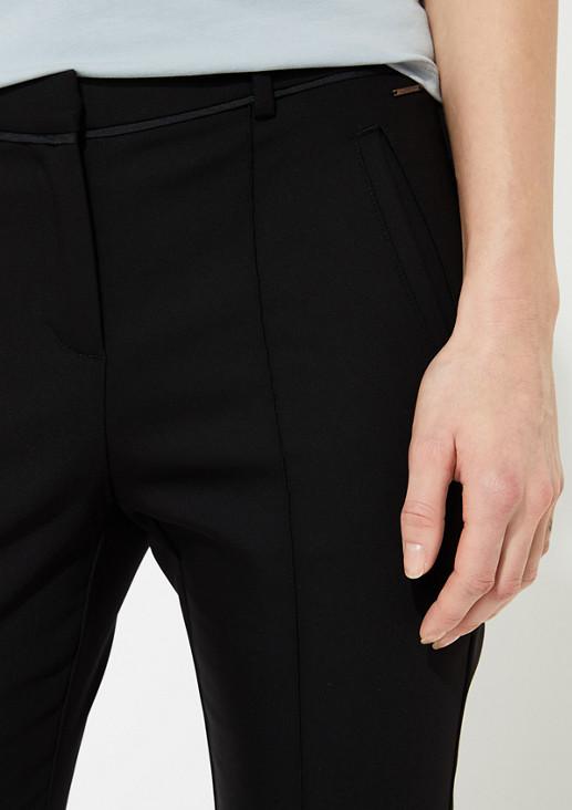 Regular Fit: Stoffhose mit Ziernaht