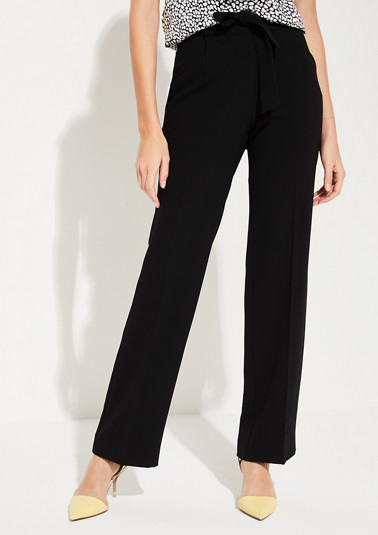 Regular Fit: Wide leg-Crepe pants from comma