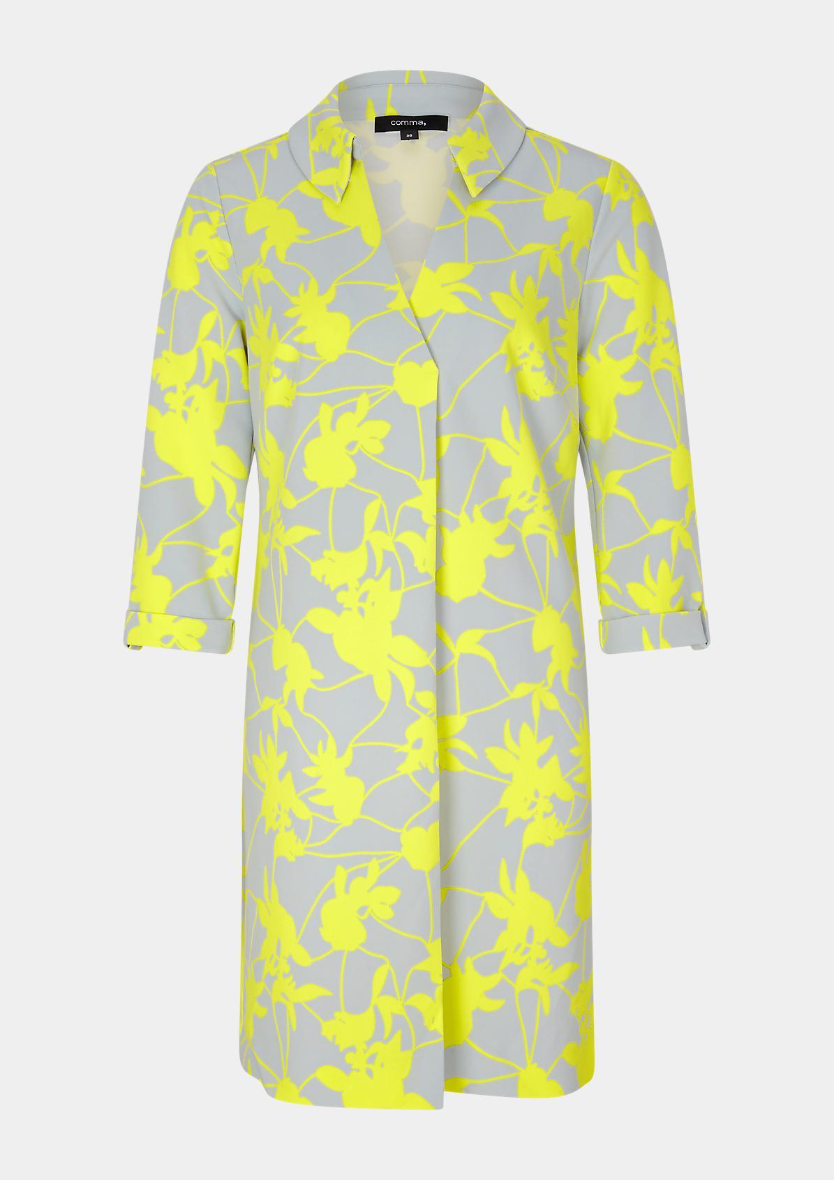 Gemustertes Kleid aus Jersey-Crêpe