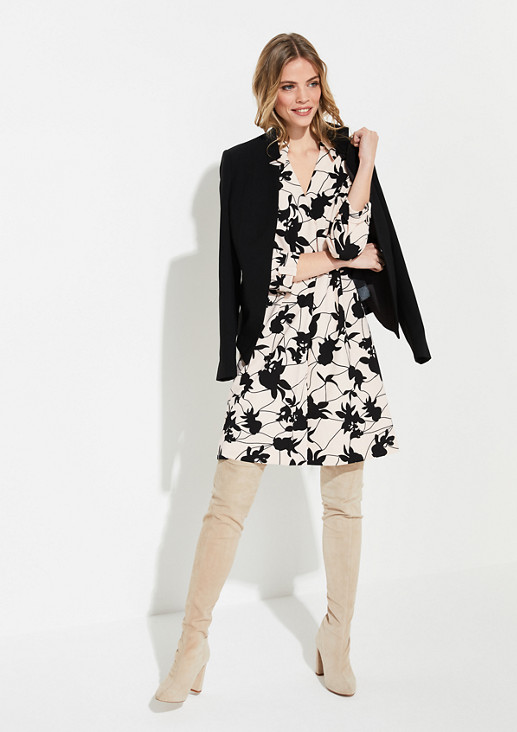 Patterned jersey crêpe dress from comma