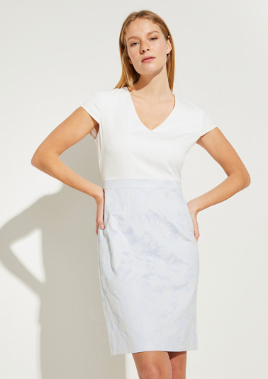Kleid mit Rockteil aus Jacquard