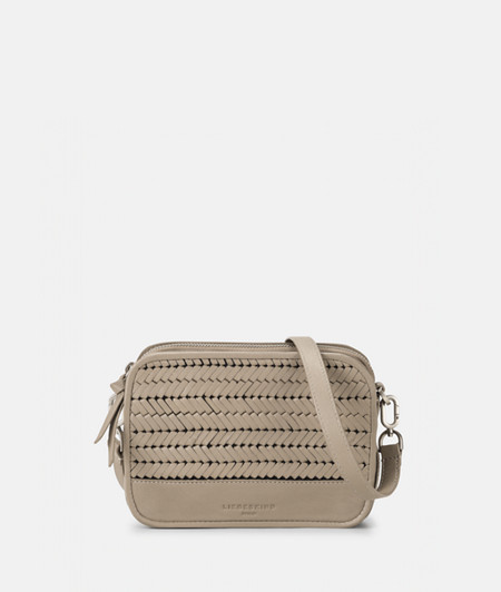 Box-shaped shoulder bag with braided leather from liebeskind