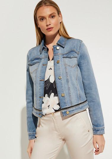 Veste en jean rehaussée d'un détail façon bijou de Comma