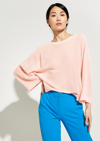 Knitted poncho with bow details from comma