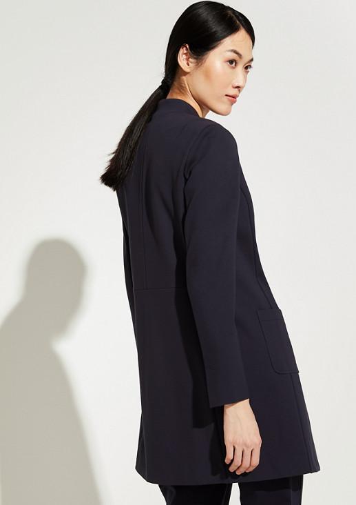 Mantel mit grafischem Kragen