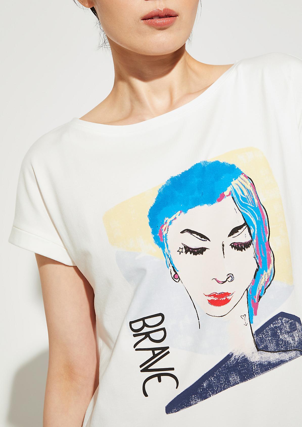 Jerseyshirt mit aufwendig gestaltetem Frontprint