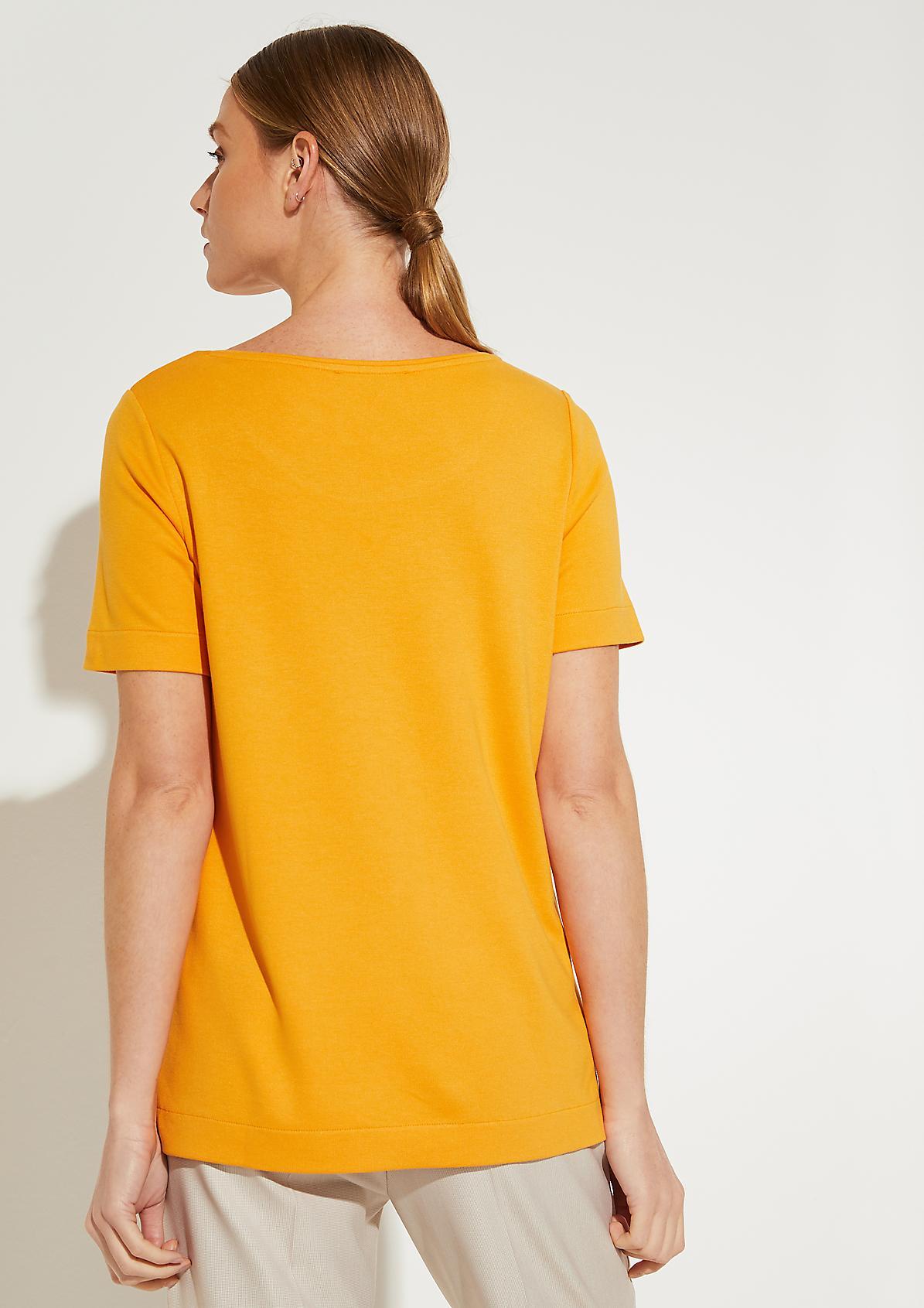 Interlock-Shirt mit Metall-Knöpfen