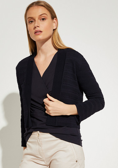 Cardigan with a textured pattern from comma
