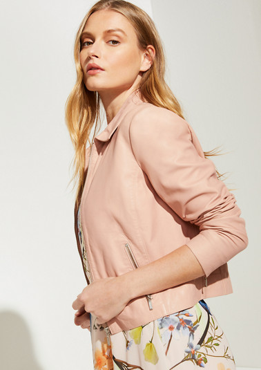 Soft nappa leather jacket from comma