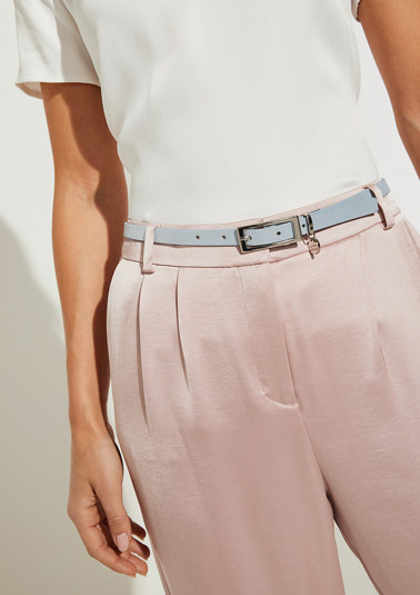 Suede belt with a metallic effect from comma