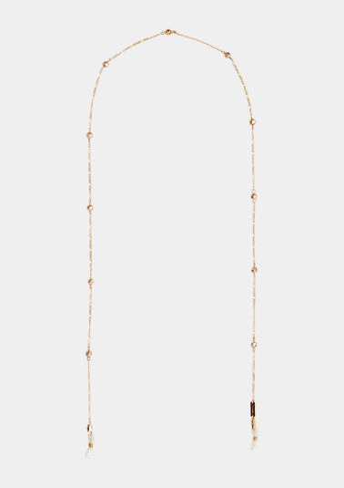 Chain for glasses in a shiny, gold-coloured look from comma