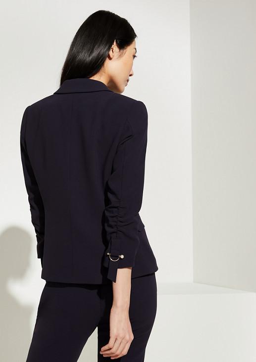 Crêpe-Blazer mit Schmuck-Detail