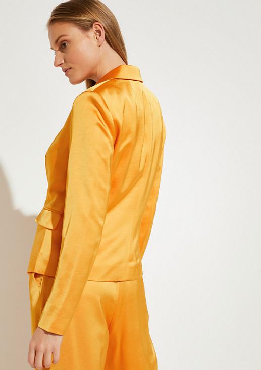 Blazer aus Shiny Satin