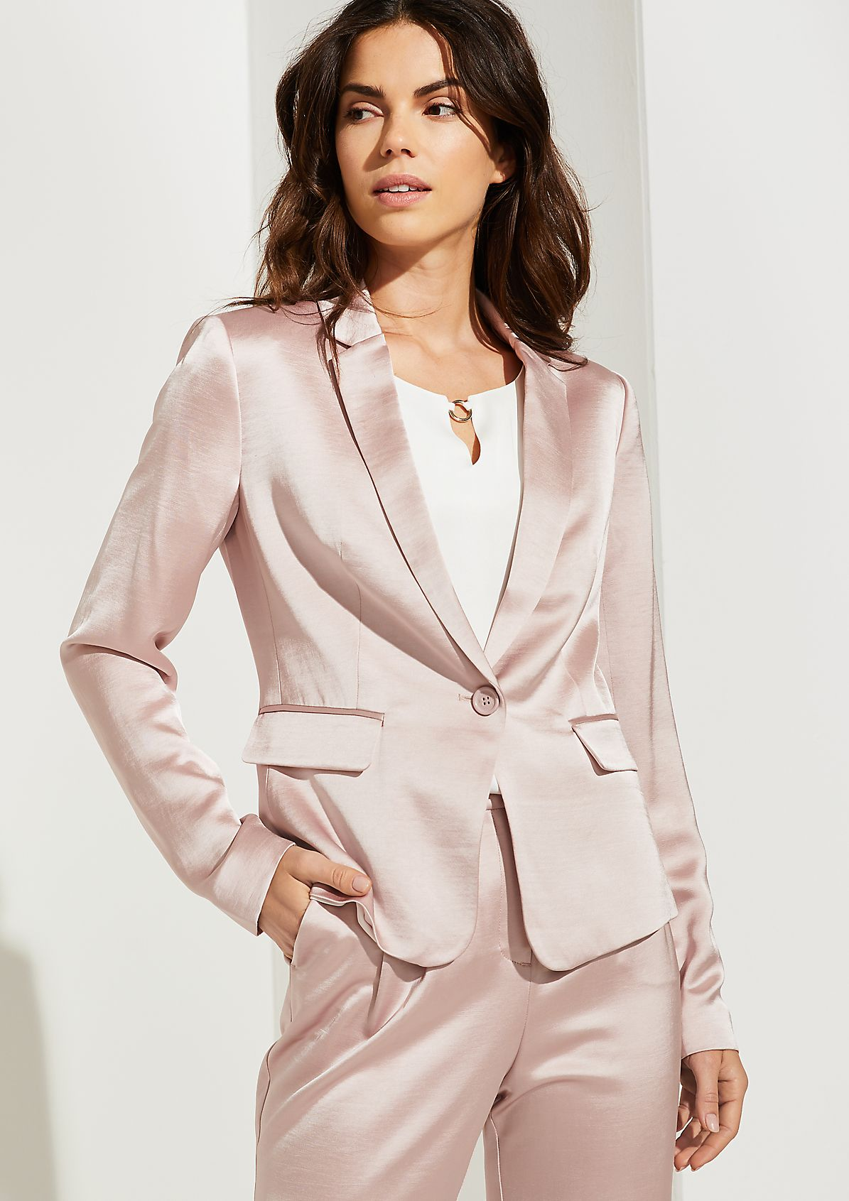 Blazer aus Shiny Satin